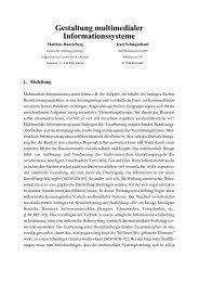 Gestaltung multimedialer Informationssysteme - Didaktik der Informatik