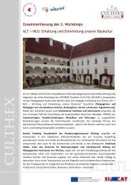 Zusammenfassung des 3. Workshops - culth:ex