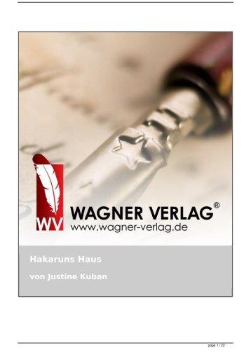 Hakaruns Haus von Justine Kuban - Wagner Verlag Autoren Texte