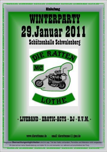Einladung Winterparty 2011 - Die Ratten MC Lothe