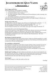 Bericht als PDF-Dokument - Jugendkirche Quo Vadis