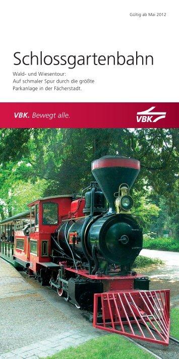 Flyer Schlossgartenbahn - KVV - Karlsruher Verkehrsverbund
