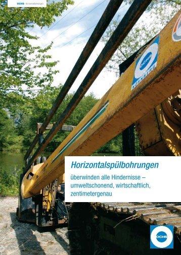 Horizontalspülbohrungen - Ochs Bau GmbH