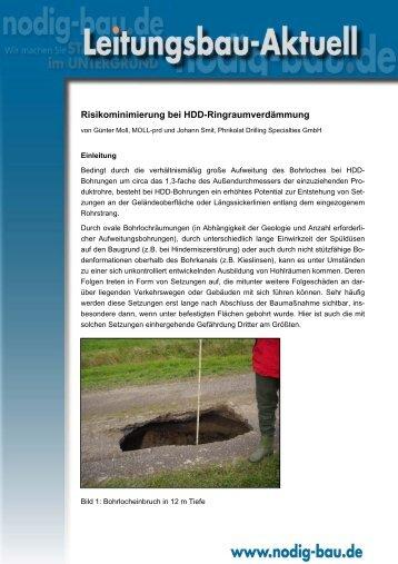 Risikominimierung bei HDD-Ringraumverdämmung - Phrikolat