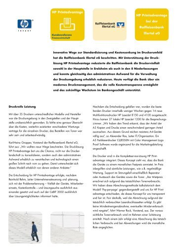 Raiffeisenbank Illertal (PDF, 218kb) - Hewlett-Packard