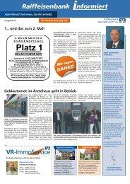 Ausgabe 3 - Raiffeisenbank Neumarkt i. d. OPf. eG