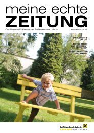 1. echte Zeitung (pdf) - Raiffeisenbank Leibnitz