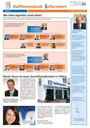 Ausgabe 1 - Raiffeisenbank Neumarkt i. d. OPf. eG