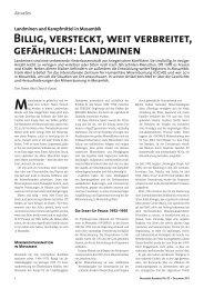 Billig, versteckt, weit verbreitet, gefährlich: Landminen