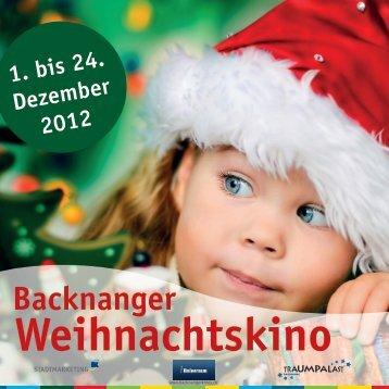 Weihnachtskino - Stadtmarketing Backnang