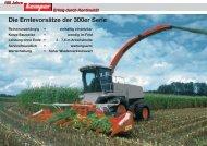 Die Erntevorsätze der 300er Serie - Kemper GmbH & Co. KG