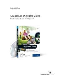 Grundkurs Digitales Video (PDF) - Galileo Design
