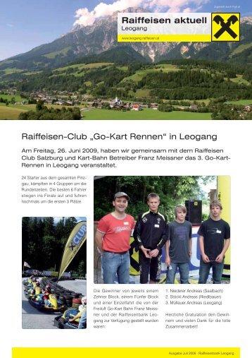 Ausgabe Juli 2009 - Raiffeisenbank Leogang