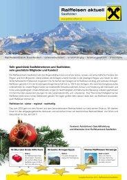 Ausgabe Dezember 2010 - Raiffeisenbank Saalfelden