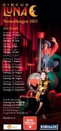 Vorstellungen 2011 - Circus Luna