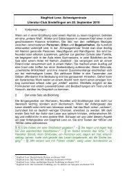 Siegfried Lenz: Schweigeminute Literatur-Club Sindelfingen am 20 ...