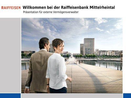 Willkommen bei der Raiffeisenbank Mittelrheintal