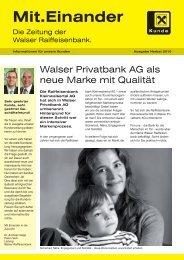 Ausgabe Herbst 2010 - Walser Raiffeisenbank