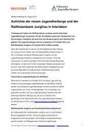 Aufrichte der neuen Jugendherberge und der Raiffeisenbank ...