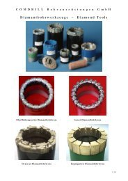 Diamantbohrwerkzeuge – Diamond Tools