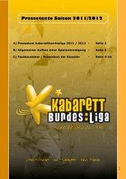 Pressetext Tageskalender KBL Saison 2011:2012