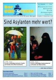 Sind Asylanten mehr wert? - FPÖ Steiermark