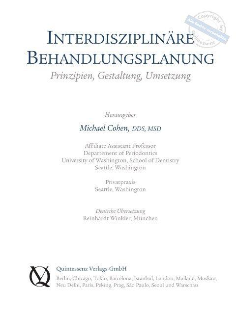 interdisziplinären behandlungsplanung - Quintessenz Verlag, Berlin
