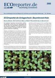 ECOreporter.de-Anlagecheck: BaumInvest-Holz