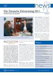Der Deutsche Zahnärztetag 2011 - Quintessenz Verlag, Berlin