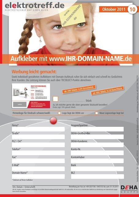 Aufkleber Mit Www Ihr Domain Name De Elektrotreff De