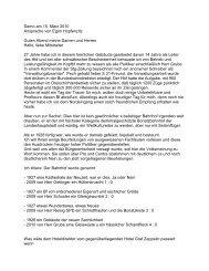 Demo am 15. März 2010 Ansprache von Egon ... - Kopfbahnhof 21