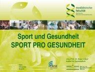 Sport und Gesundheit / Sport pro Gesundheit