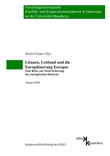 Litauen, Lettland und die Europäisierung - Universität Mannheim