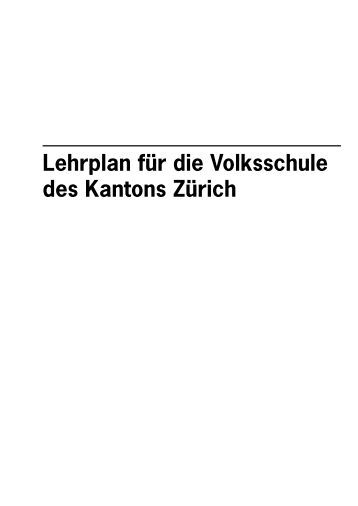 Lehrplan für die Volksschule des Kantons Zürich
