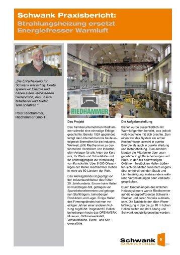 Ofenwerk Riedhammer [pdf] - Schwank GmbH