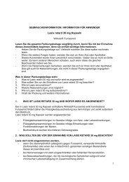Lasix retard 30 mg Kapseln