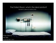 The Patient Room: what is the ideal solution? - Cornell University