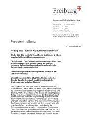 Pressemitteilung - Energieagentur Regio Freiburg
