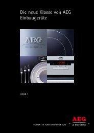 Die neue Klasse von AEG Einbaugeräte