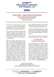 Vision 2100 – cenjur fordert die Kreation einer ... - SEIDL - cenjur
