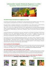 Lebensmittel Autarke Heimische Regionen / L.A.H.R.®