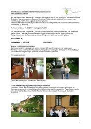 Antrittsbesuch der Deutschen Weinprinzessinnen 2007/2008 in ...