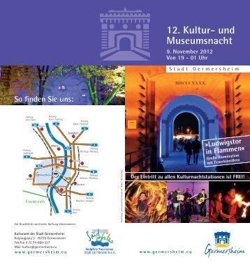 12. Kultur- und Museumsnacht - Germersheim