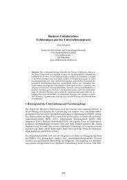 Business Collaboration: Erfahrungen aus der Unternehmenspraxis