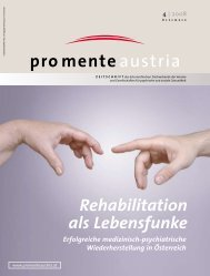 Rehabilitation als Lebensfunke - pro mente Burgenland