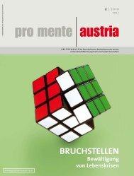 Bruchstellen des Lebens - pro mente Burgenland