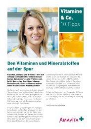 Vitamine & Co. 10 Tipps - AMAVITA Apotheken