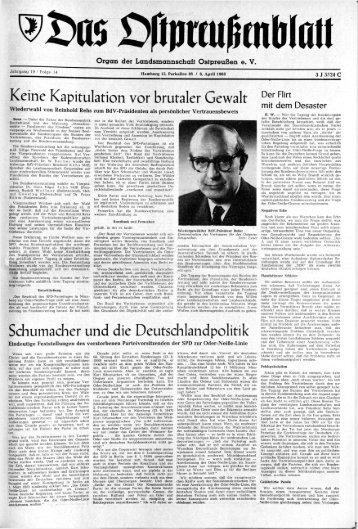 Folge 14 vom 06.04.1968 - Archiv Preussische Allgemeine Zeitung