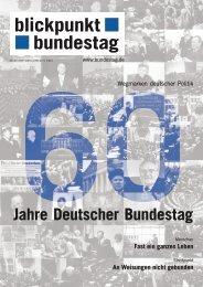 60 Jahre deutscher Bundestag