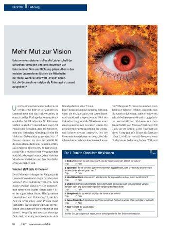 Mut zur Vision - Kommunikations-Kolleg AG Beratung Training